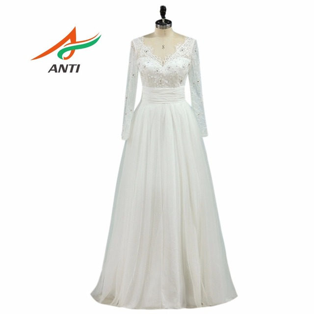 1fd8abc705 US $115.63 34% OFF|ANTI High quality Lace Ball Gown Wedding Dress With Long  Sleeves V neck Beading Detachable skirts Robe De Mariee Bridal Gowns -in ...
