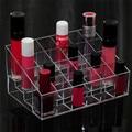 Home Furnishing 24 Lattice Clear Acrylic Makeup Organizer 14*10cm Cosmetics Organizers Lipstick Holder Nail Polish Makeup Case