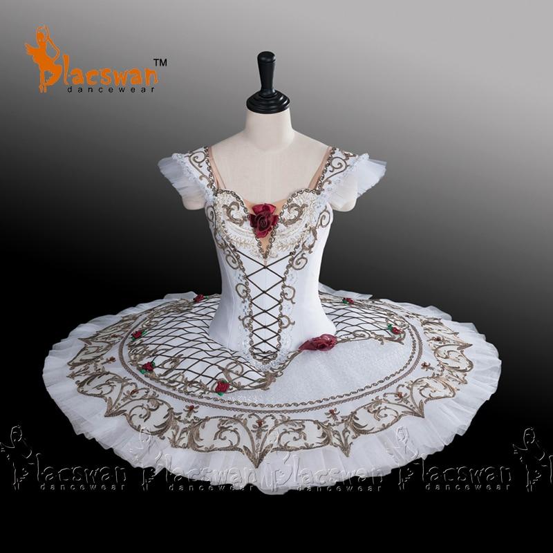 Paquita Professionnel Classique Ballet Tutu Costume BT686 Blanc Costume de Scène de Ballet Crêpe Tutus Ballet Filles Espagnol Tutus