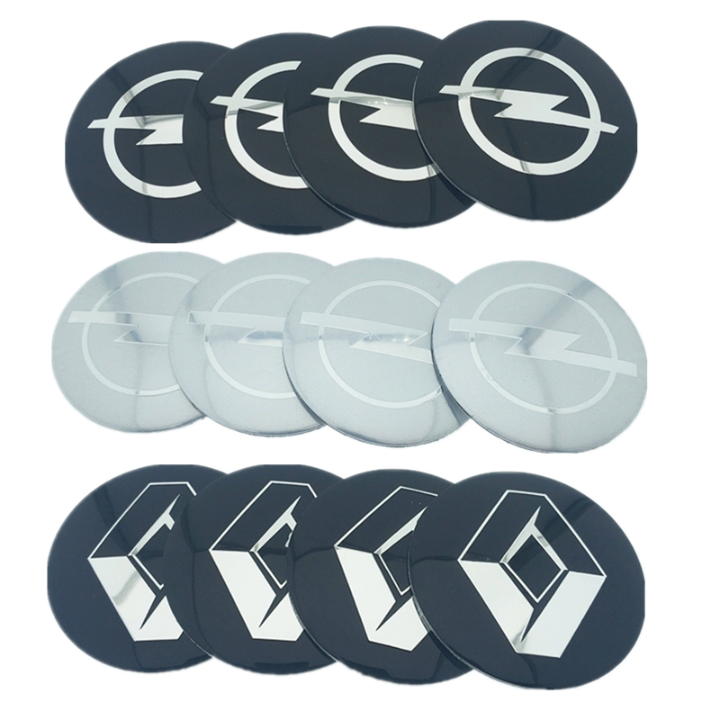 4pcs 56.5mm 65mm For Opel KIa Nissan Mini SKODA Ford Dodge Citroen Mazda Car Wheel Hub Core LOGO Emblem Car Sticker Car Styling