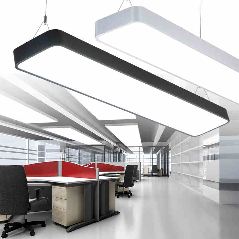 suspended office lighting. LX220 Study Office Modern LED Ceiling Pendant Lamp Rectangle Suspended Light Fixtures Home White Light-in Lights From \u0026 Lighting On