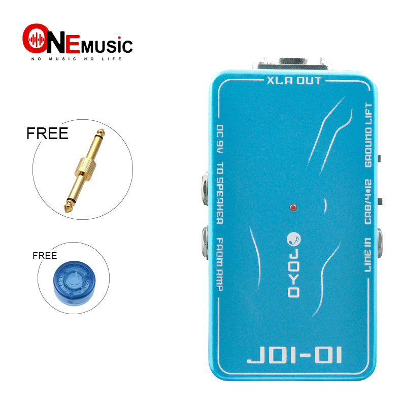 JOYO JDI-01 Guitar Amp Effects Pedals - DI Box Amp Simulation 600 Ohm Output with Free Connector and Mooer KnobJOYO JDI-01 Guitar Amp Effects Pedals - DI Box Amp Simulation 600 Ohm Output with Free Connector and Mooer Knob