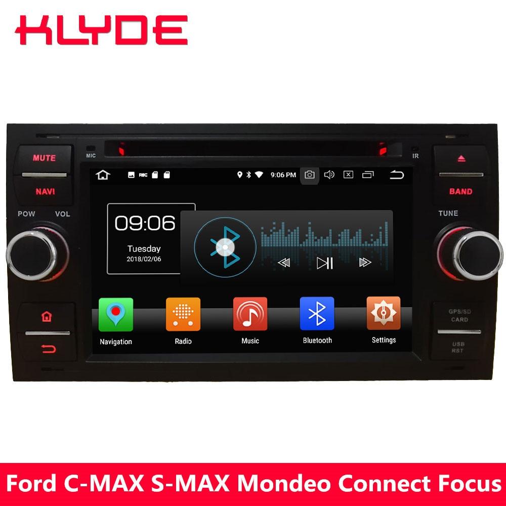 "KLYDE 7 ""4 г Android 8,0 Octa Core 4 ГБ Оперативная память 32 ГБ Встроенная память dvd-плеер автомобиля радио gps навигация для Ford Focus Fusion Kuga Fiesta Transit"