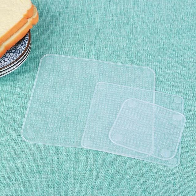 4Pcs/lot Reusable Silicone Wrap Seal Food Fresh Keeping Wrap Lid Cover Stretch Vacuum Food Wrap Bowl Cover Home Kitchen Tools 4