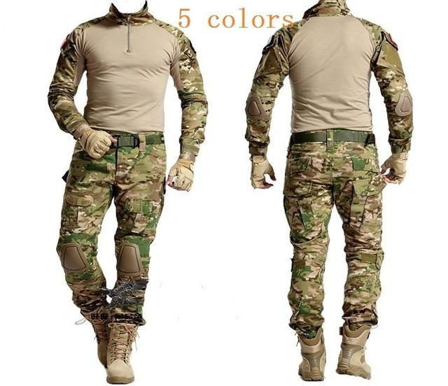 Tactical Caccia Abbigliamento Militare Bdu Uniforme Abbigliamento Militare  Tattico Giacca Camicia Pantaloni Con Ginocchiere Camouflage Kryptek 2b413fb0a26b