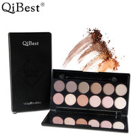 Qibest Professional 12 Colors Eye Makeup Eyeshadow Palette Ultra Shimmer Warm Cool Nake Matte Eye Beauty