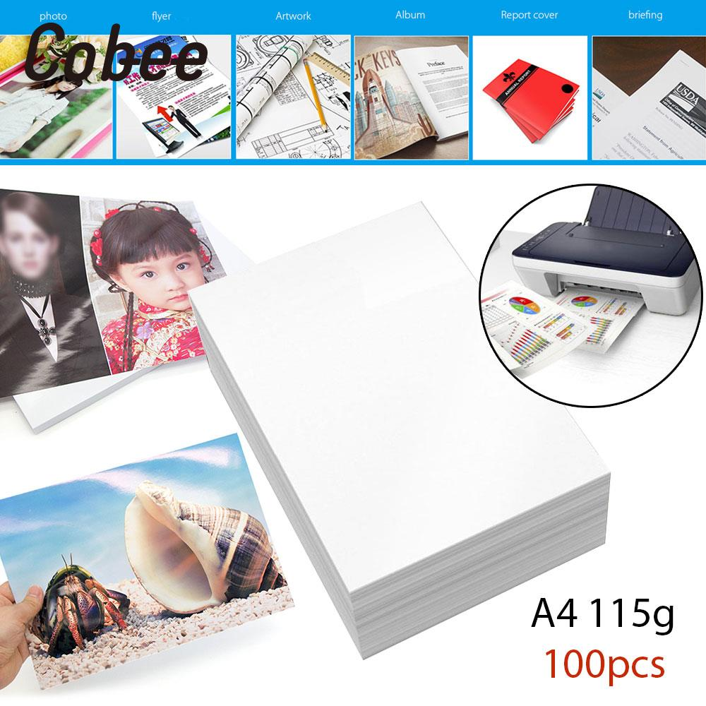 100Sheets/Lot A4 Glossy Photo Paper A4 Print Photo Paper A4 Inkjet Printing Paper Professional Projects Art Galleries kokuyo gambol paper paper drafts a4 70 page 4 wcn a4 128