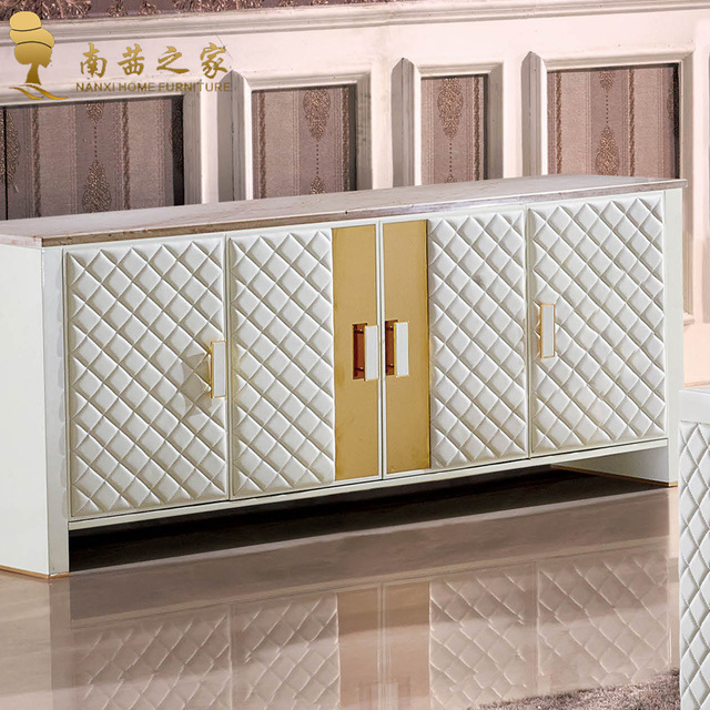 Italian design home furniture living room cabinet marble dining room ...