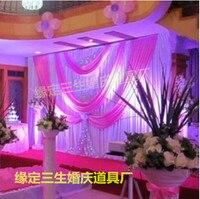 100% 10FT * 20ft полиэстер вязальные Свадебные фонов, свадебный фон могут быть выполнены по индивидуальному заказу