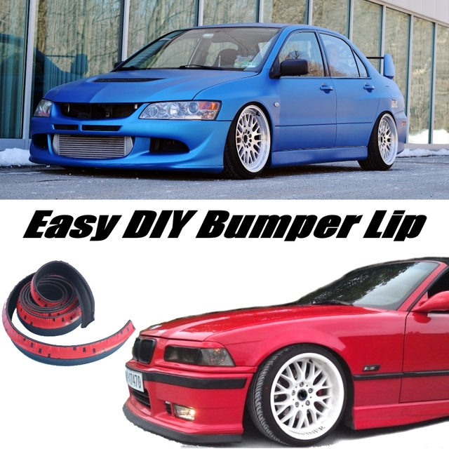 Bumper Lip Lips For Mitsubishi Lancer Evolution EVO / Front Skirt Deflector  Spoiler For Car Tuning