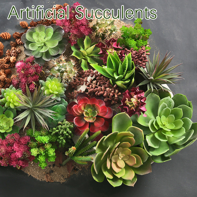 1pc artificial succulents grass desert leaf artificial plant real touch lotus plants fake. Black Bedroom Furniture Sets. Home Design Ideas