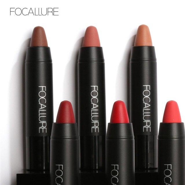 New Lipstick Brands Focallure  Lip Cosmetics Pencil Pigment 27 Color Long Lasting Matte Sexy Red Lips  Metallic Lipstick Kit 1