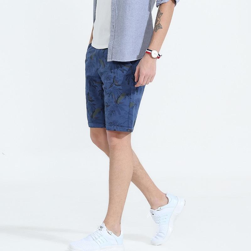 Denyblood Jeans Mens Shorts 2018 Summer New Arrival Print Chinos Stretch Cotton Capris Beach Short Bermuda 2201D
