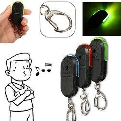 Tragbaren Schlüssel Tracker Mini Führte Schlüssel-sucher Whistle Sound Control Keychain Anti-verlorene Alarm Persönliche Brieftasche Schlüssel Locator