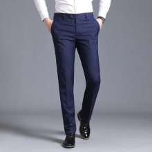 Мужской тонкий костюм раздельные Брюки Формальные Свадебные деловые модные прямые мужские брюки светильник серые тонкие офисные брюки
