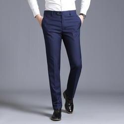 Мужской тонкий костюм отдельные брюки формальные свадебные деловые модные прямые мужские брюки светло-серые тонкие офисные брюки