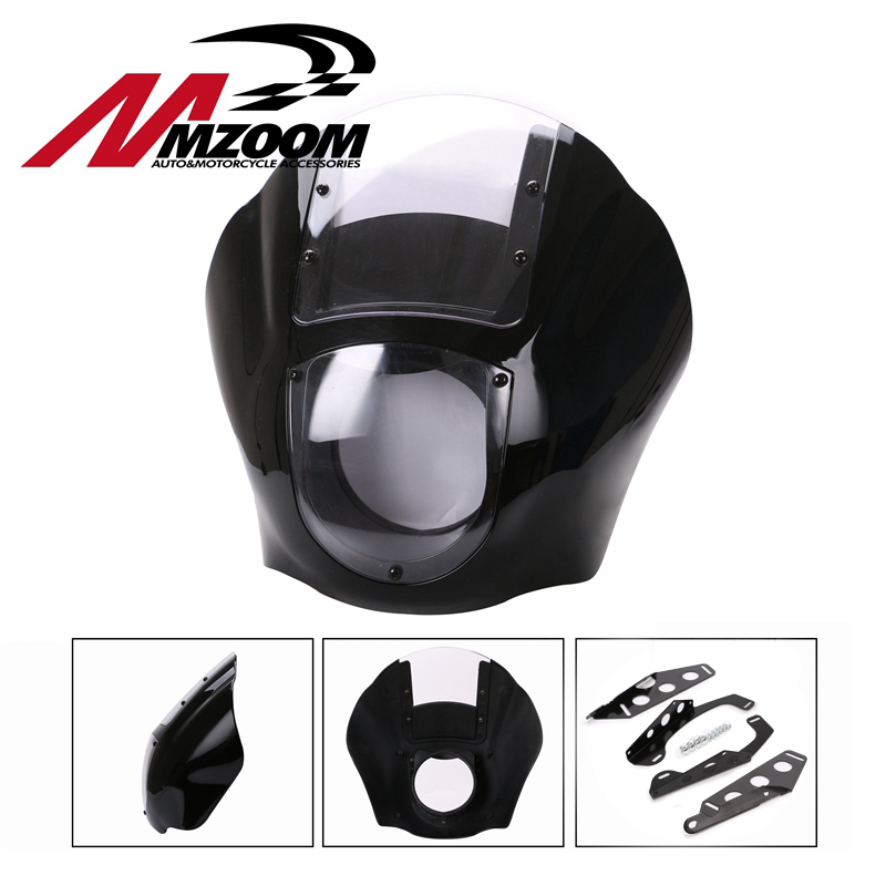 Motorcycle ABS Black Fairing Kit fit For 1988-later Sportster XL 883 1200 86-94 FXR 95-05 Dyna models