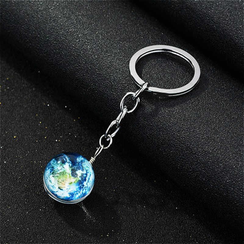 1 шт. игрушки Металл Noctilucan Сатурн круговой шар карты монета Русалка блестящий брелок-снаряд брелоки с игрушками ключ подарок игрушки