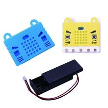 For BBC Micro:bit Silicon Protective Case Cover & AAA Cell Battery Holder Box Case, for Micro:bit Board Kids Education FZ3226