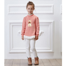 Pretty Tiger Children's Pullover Velveteen Jointed Autumn Warm Girl's Sweater GB-53G134