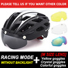 Victgoal capacete de bicicleta mountain bike, capacete de luz para ciclismo moldado integralmente à prova de vento com óculos de proteção 10