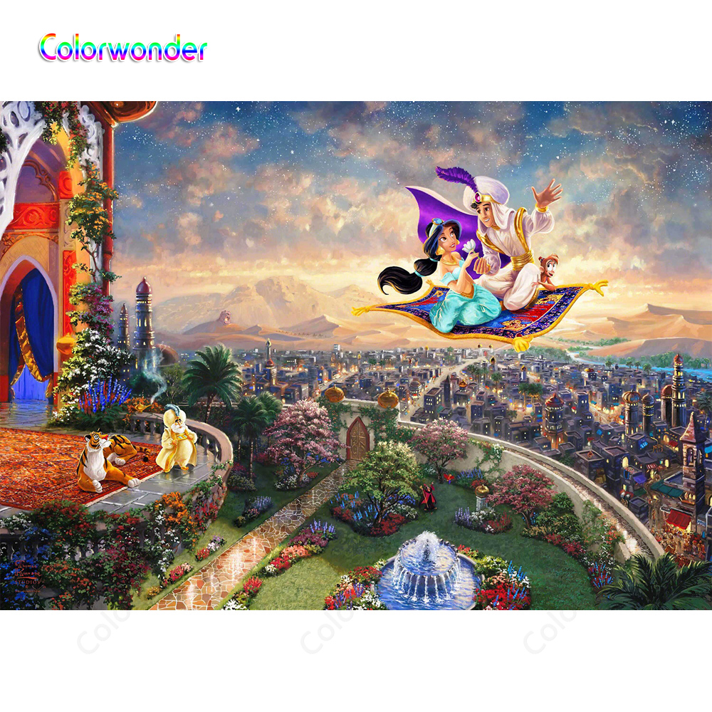 Fairy Tale World Background Photo Princess Jasmine With Aladdin