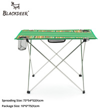BLACKDEER Camping Equipment Outdoor Portable Foldable Folding Fishing Table Desk Travel Picnic Aluminium Alloy Ultralight 1.15kg все цены