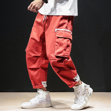 Casual Cargo Pants Men Brand Clothing Feet Sweatpants Male Stretch Pockets Hip Hop Black Ankle-length Trousers Male  Joggers men