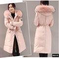 Plus Size Long Down Coat Winter Jacket Womens Down Jackets Ukraine Parka Down Coats With Real Natural Raccoon Fur Hood 2016