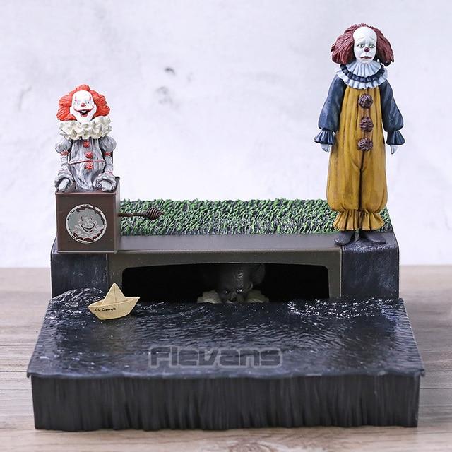 NECA É Pennywise Acessório Figura PVC Conjunto de Stephen King é Modelo Coleção Toy