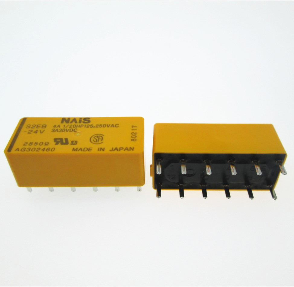 цена на NEW 24V relay S2EB-24V S2EB-24VDC S2EB24V 24V 24VDC DC24V 4A 250VAC 12PIN