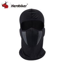 HEROBIKER Balaclava Motorcycle Face Mask Motorcycle Cycling Bike Ski Army Helmet Protection Full Face Mask Moto Mask 4 Color