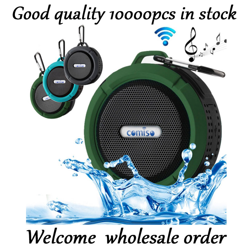 Portable Mini Waterproof Speaker Outdoor Wireless Car Bluetooth Speaker Support SD TF Card Handsfree Suction Cup Music Speaker