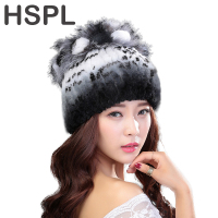Hat Women 100 Natural Rex Rabbit Fur Winter Hats For Lady Fashion Fur Cap Warm