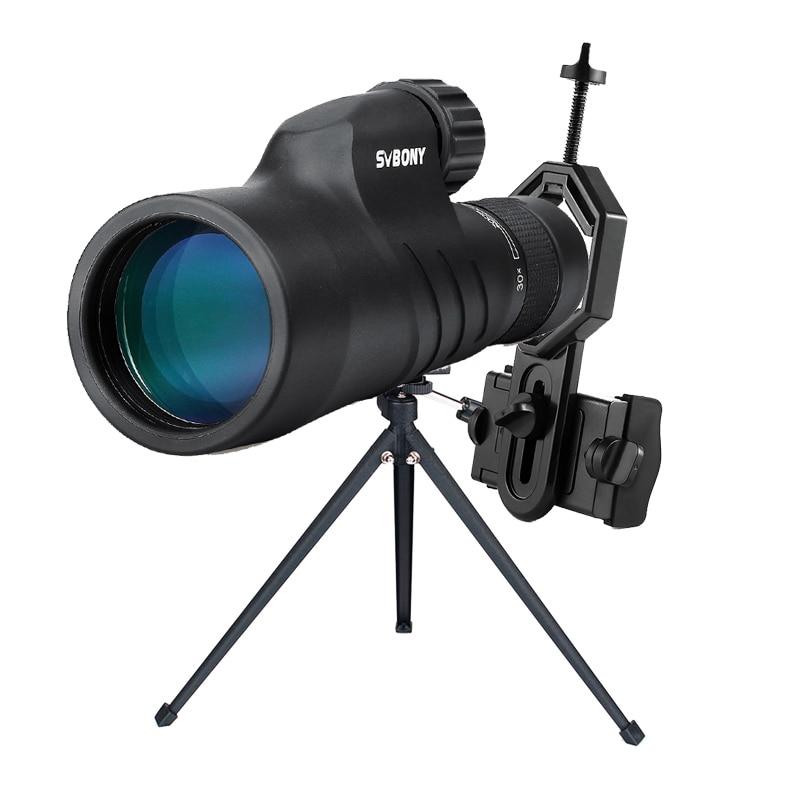 SVBONY 10-30x50 High Magnification Zoom Monocular BaK4 Waterproof Powerful Telescope w/Smartphone Adapter Tabletop Tripod SV45 цена