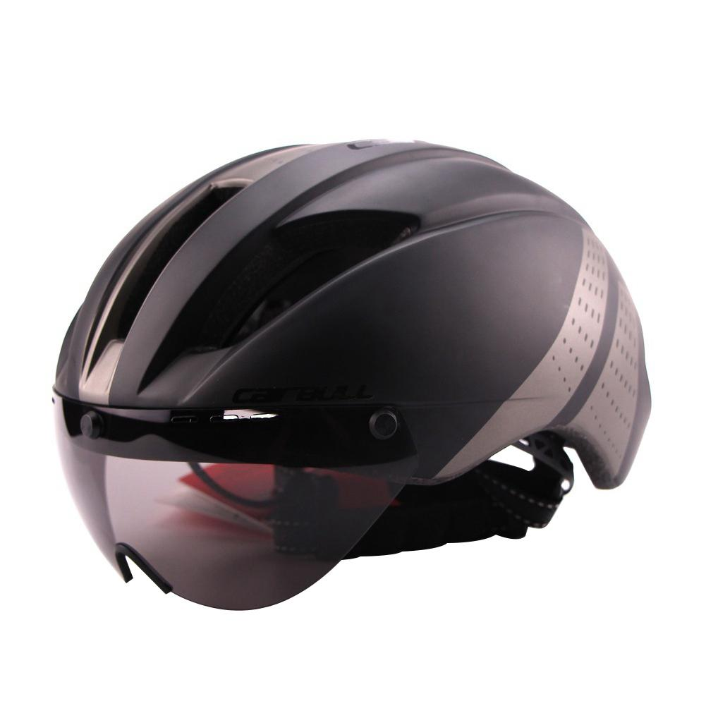 Mounchain Lightweight Unisex Cycling Helmet with Detachable Magnetic Goggles Aerodynamic for Motorcycle Bike Riding
