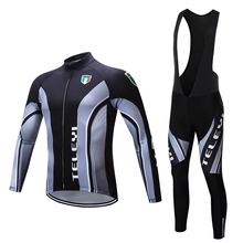 2016 Spring Autumn Unisex GEL Breathable MTB Ropa Ciclismo Bicycle maillot Pro Team Cycling Jerseys Long Sleeve Quick dry Cloth