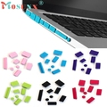 9pcs Silicone Anti Dust Plug Ports Cover Set For Laptop Macbook Pro 13 15 Free Shipping Jan14