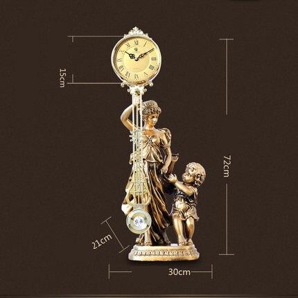 Creative Décoratif Salon Horloge Antique Décoration Classique Artisanat Horloges De Mode Creative Horloge De Bureau Décorations