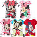 2015 del bebé del mameluco de Minnie Mickey mameluco mameluco del muchacho de manga corta para escalada ropa mono de la ropa de los niños ropa corta