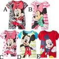Romper do bebê Minnie Mickey Romper menina Romper de manga curta escalada roupas macacão crianças roupas curtas