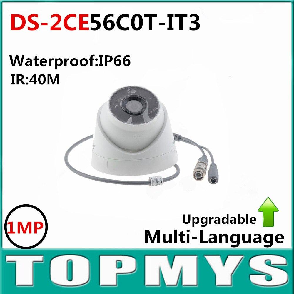 English Version HD720P EXIR Turret Camera DS-2CE56C0T-IT3 1.0 Megapixel high-performance CMOS IP66 weatherproof hik ds 2ce56d1t it3 hd720p exir turret camera 2 megapixel cmos ip66 weatherproof turret camera with 40m ir home security camera