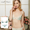 2016 new adult girl bra set elegant sex underwear comfortable lace perspective bikini sexy lingeries with bow design 3 colors