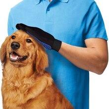 2016 Новый Pet Clean Расчесывание Кошки Собаки Гент lTrue Сенсорный Deshedding Кисти Перчатки Пэт Эффективный Массаж Уход Большой Легко Волос от