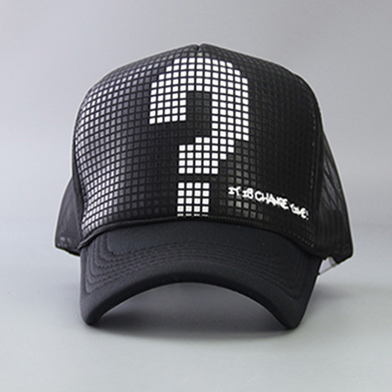 Fashion Womens Mens Lovers Snapbacks Casual Hip Hop Cap Question Mark Mesh Baseball Caps Bonet Touca Summer Hats Autumn Spring
