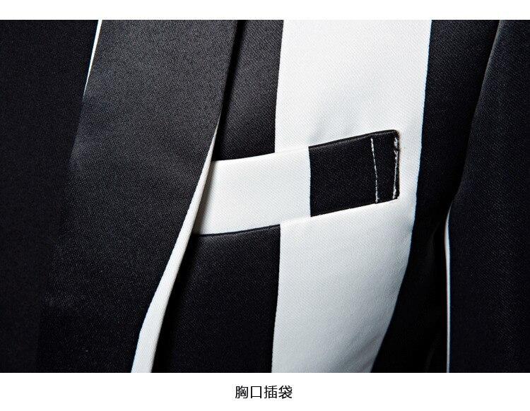 cecfb6f92841c SZGAODSHANG M-5XL Tide Men Black White Zebra Stripe ...