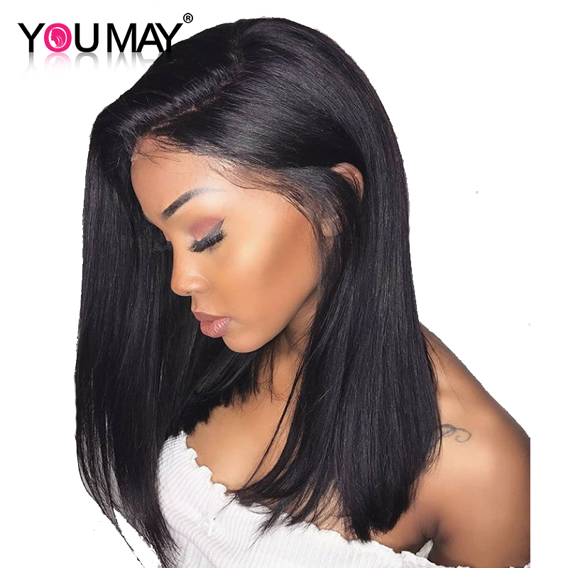 Human Hair Bob Wigs For Women Braizlian 250% Density Lace Front Short Wigs Pre Plucked With Baby Hair You May Remy Hair