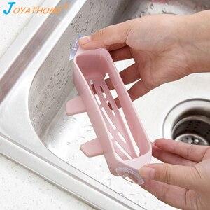 Image 3 - Joyathome Creative Kitchen Sponge Drain Rack Suction Cup Type Hollow Brush Sink Rack Sink Organizer Sink Drain