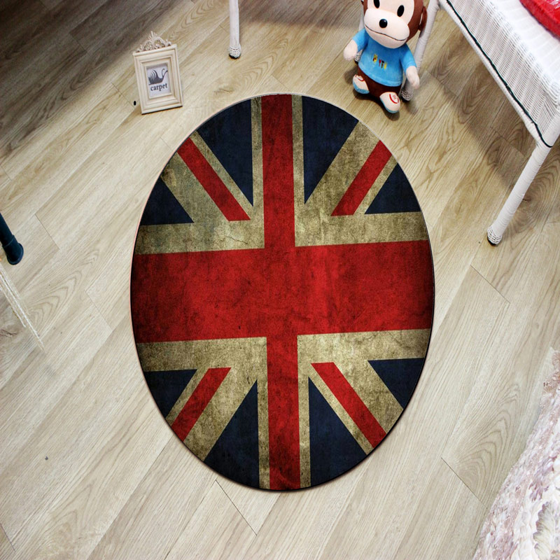 3D Hot sale Earth short villus Carpet Bedroom Round Modern Kids room Rugs and Carpets for home living room Computer Chair Mat