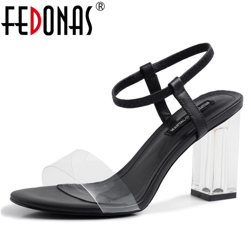 FEDONAS Fashion Sexy Concise Women Sandals Summer New Square Toe High Heels Elastic Band Shoes Woman 2019 Night Club Shoes FEDONAS Fashion Sexy Concise Women Sandals Summer New Square Toe High Heels Elastic Band Shoes Woman 2019 Night Club Shoes